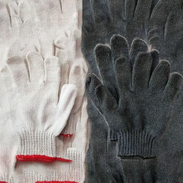 Sarung Tangan Hitam Putih Polos