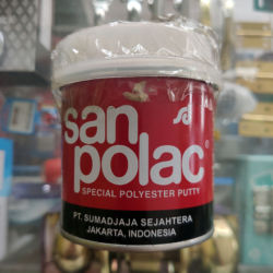 Dempul Sanpolac + Obat Pengeras Untuk Besi & Kayu 250gr